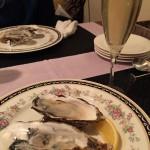 牡蠣とスパークリング