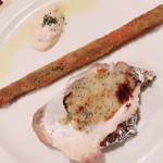牡蠣とアスパラ