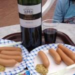 ワインとソーセージ