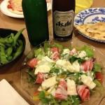 料理とビール